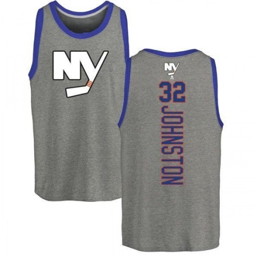 Ross Johnston New York Islanders Men's Backer Tri-Blend Tank Top - Ash
