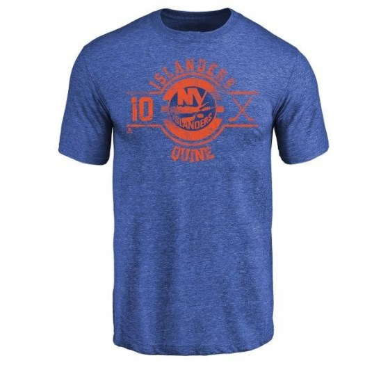 Alan Quine New York Islanders Men's Royal Branded Insignia Tri-Blend T-Shirt -
